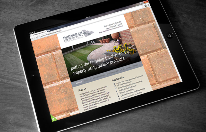 Immingham Block Paving website